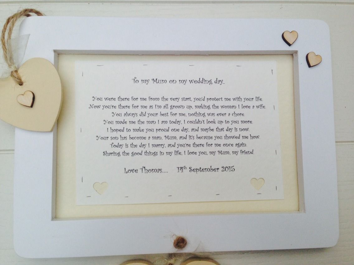 shabby personalised gift chic mum mother of groom present wall